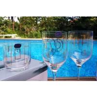 Set 6 pahare vin rosu Bohemia cristalin - Uma Gold Circular - Nr. catalog 3398