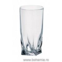 Pahare tip longdrink 350 ml  Bohemia cristalit - Quadro - Nr catalog 1321