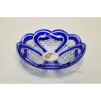 Bol 20 cm din cristal de Bohemia - Ribbon - Nr catalog 2994 (Fructiere - Boluri - Platouri)