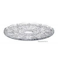 Platou 31 cm Bohemia cristalit - Miranda Nova - Nr catalog 168 (Fructiere - Boluri - Platouri)
