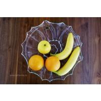 Platou 35 cm desert-fructe Bohemia cristalit - Venus - Nr catalog 2493 (Fructiere - Boluri - Platouri)