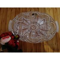 Platou compartimentat din cristal de Bohemia - Marylin - Nr catalog 2982 (Fructiere - Boluri - Platouri)
