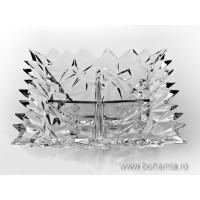 Bol compartimentat 28 cm din cristal de Bohemia - Glacier - Nr catalog 1630 (Fructiere - Boluri - Platouri)