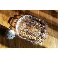 Platou oval 36.5 cm din cristal Bohemia - Nr catalog 2668 (Fructiere - Boluri - Platouri)