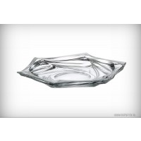Platou 33 cm Bohemia cristalit - Flamenco - Nr catalog 2245 (Fructiere - Boluri - Platouri)