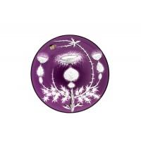Platou 30 cm din cristal de Bohemia - Ciulini - Nr catalog 450 (Fructiere - Boluri - Platouri)