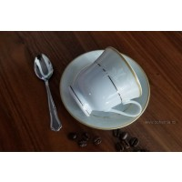 Serviciu de cafea espresso 110 ml si 6 lingurite - Claire - Nr catalog 2834 (Set Servicii Portelan de cafea