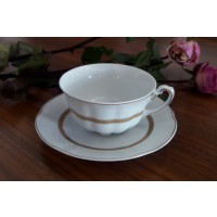 Serviciu de cafea/ ceai 220 ml din portelan 12 piese - 6 persoane - BOLERO PRINCESS - Nr 1193
