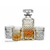 Set sticla si 6 pahare de whisky din cristal de Bohemia - Madison - Nr. catalog 392