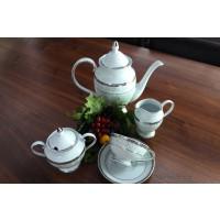 Serviciu de cafea din portelan - GLORIA - Nr catalog 2027 (Set Servicii Portelan de cafea)