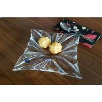 Set 6 farfurii patrate pentru tort Bohemia cristalit - Havana - Nr catalog 2651 (Fructiere - Boluri - Platouri)
