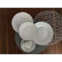 Set de masa si cafea 6 persoane 30 piese - Maria Tereza Platino - Nr catalog 3442 (Set Servicii Portelan de masa)