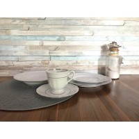 Set de masa si cafea 6 persoane 33 piese - Maria Tereza Platino - Nr catalog 3444 (Set Servicii Portelan de masa)