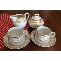 Serviciu cafea espresso 12 persoane complet - Sharim Gold - Nr catalog 2571 (Set Servicii Portelan de cafea)
