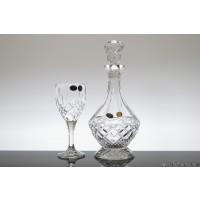 Set pahare de vin si sticla din cristal de Bohemia - Sheffield 2 - Nr catalog 1876 (Pahare cu sticla)