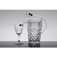 Set pahare vin si carafa din cristal de Bohemia - Angela - Nr catalog 2100 (Pahare cu sticla)