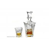 Set 6 pahare de whisky si sticla din cristal de Bohemia - Samurai - Nr catalog 3517 (Pahare cu sticla)