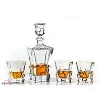 Set sticla si pahare pentru whisky din cristal Colectia Havana