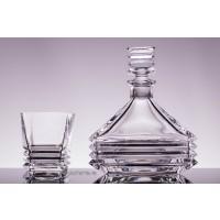 Set sticla si pahare pentru whisky din cristal Colectiia Maria