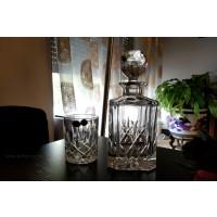 Set pahare si sticla de whisky din cristal de Bohemia - Sheffield - Nr catalog 2693 (Pahare cu sticla)