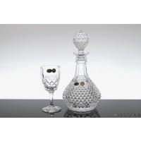 Set sticla si pahare pentru vin din cristal de Bohemia - Angela - Nr catalog 1879 (Pahare cu sticla)