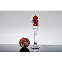 Sfesnic inalt 26.5 cm din cristal de Bohemia - Imperial - Nr catalog 2108 (Sfesnice)