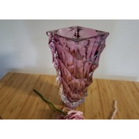 Vaza 30 cm Bohemia cristalit - Casablanca Mov - Nr catalog 3150 (Vaze)