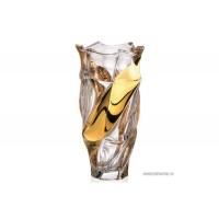 Vaza 30 cm Bohemia cristalit - Flamenco Gold - Nr catalog 2291 (Vaze)