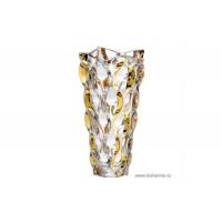 Vaza 30 cm Bohemia cristalit - Samba Gold - Nr catalog 2299 (Vaze)