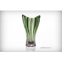 Vaza Bohemia cristalit 32 cm - Venus Verde - Nr catalog 2002 (Vaze)