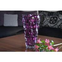 Vaza 30 cm Bohemia cristalit - Samba Mov - Nr catalog 2340