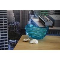 Fructiera Bohemia cristalit 22 cm - Wave Azur - Nr catalog 3187
