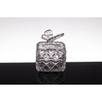 Caseta 10 cm din cristal de Bohemia - Fluturas - Nr catalog 775