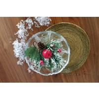 Fructiera decorata Bohemia cristalit 22 cm - Orion - Nr catalog 2707
