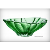 Fructiera 33 cm Bohemia cristalit - Venus Verde- Nr catalog 2366