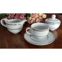 Serviciu ceai cu zaharnita si latiera - Platino - Nr catalog 3260