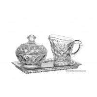 Set latiera tavita zaharnita din cristal de Bohemia - Madison - Nr catalog 282