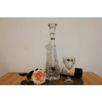 Set de vin cu decantor din cristal de Bohemia - Elise Vibes - Nr catalog 3066