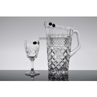 Set pahare vin si carafa din cristal de Bohemia - Angela - Nr catalog 2100