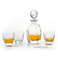 Set sticla si 6 pahare de whisky din cristal de Bohemia - Symphony - Nr. catalog 346