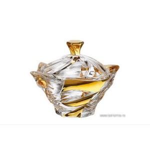 Caseta 20.5 cm Bohemia cristalit - Flamenco Gold - Nr catalog 2297