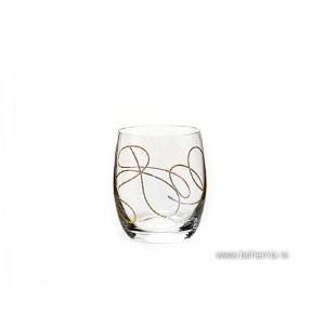 Pahare de whisky Bohemia Cristalit - String Gold - Nr catalog 3070