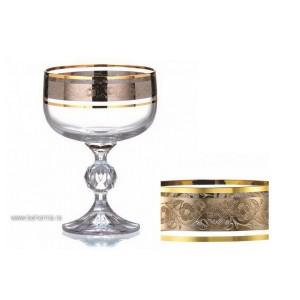 Pahare sampanie cupa/inghetata Bohemia cristalit - Claudia Royal - Nr catalog 3532