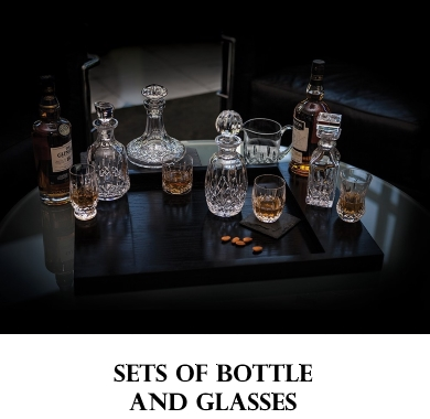 Sets of Bottle and Glasses Bohemia